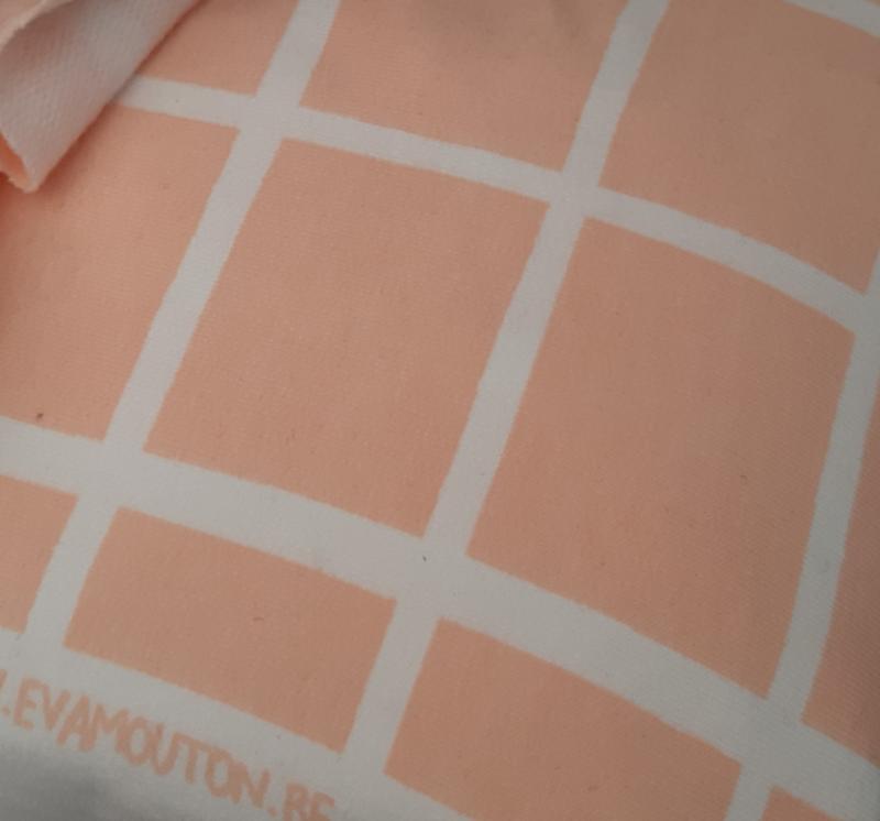 Roze grid french terry - Eva Mouton