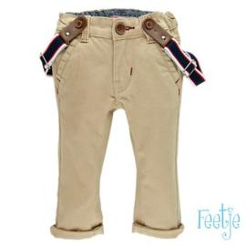 Feetje Twill broek met bretels - Classic Boys zand