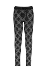 B.Nosy Girls pants with check ao front panel and solid backside