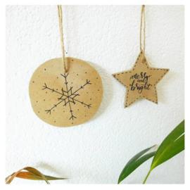 DIY-pakket houten ornamenten