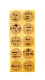 Stickers met kalligrafie