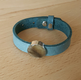 Leren armband Smokey Blue