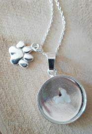 925 Zilveren ketting met melktandje