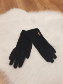 Gloves zwart vacht