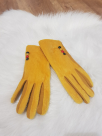 Gloves geel vacht