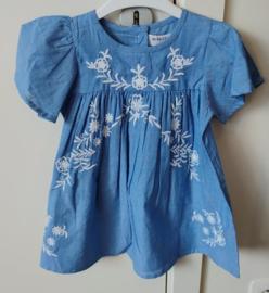 Dress Blue Broderie