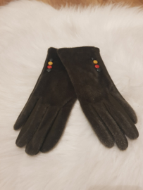 Gloves groen vacht