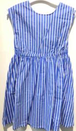 Blue cotton stripe dress