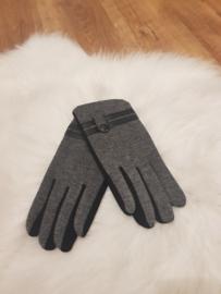 Gloves grijs/zwart