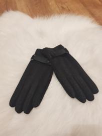Gloves zwart riempje