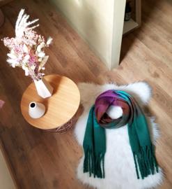Sjaal groen/paars/blauw