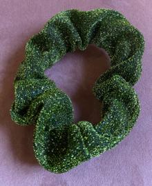 Scrunchie Groen glitter