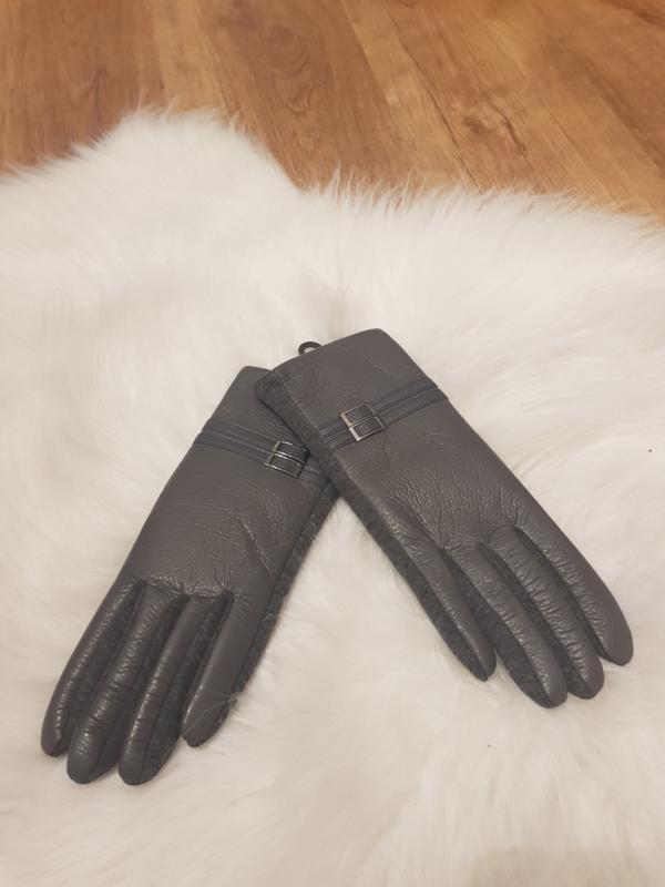 Gloves grijs leder