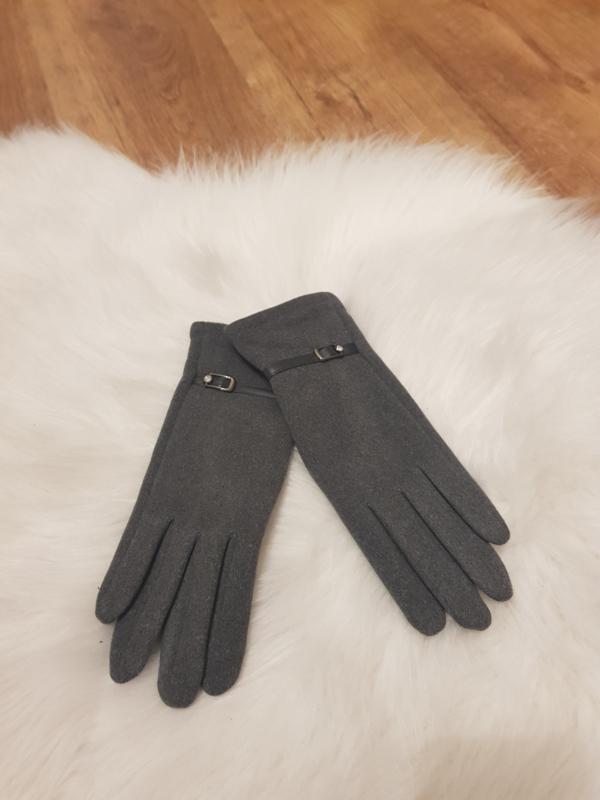 Gloves grijs riempje