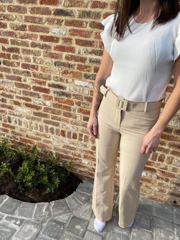 Beige geklede broek