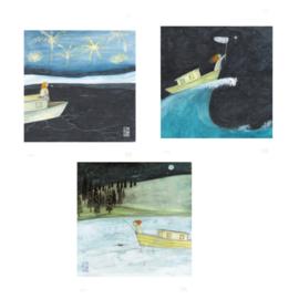 Postkaart | Girl Combi | 3 x 2 stuks