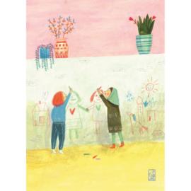 Postkaart A6 | Drawing Girls | 1 stuk