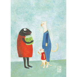 Postkaart A6 | Mother Frog | 5 stuks