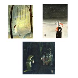 Postkaart A6   Kerst Mix 3   3 x 2
