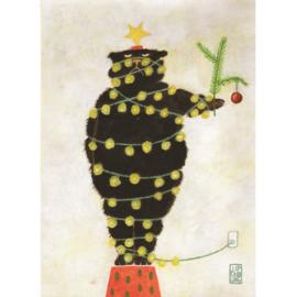 Postkaart A6 | Christmas Bear | 5 stuks