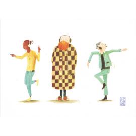 Postkaart A6 | Music Guys | 5 stuks