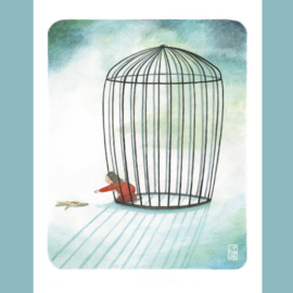 Originele Illustratie | Girl in Cage