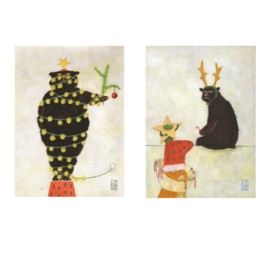Postkaart A6 | Grumpy Christmas | 2 x 3 stuks