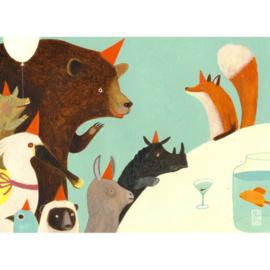 Postkaart A6 | Animal Birthday | 5 stuks