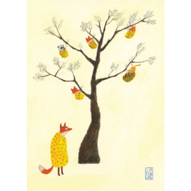 Postkaart A6 | Fox Babytree | 5 stuks