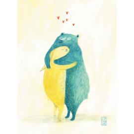 Postkaart A6 | Big Hug | 1 stuk