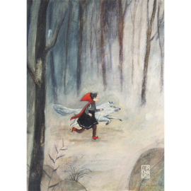 Postkaart A6 | Little Red Riding Hood | 5 stuks