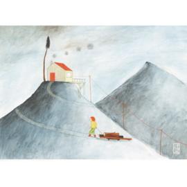 Kleine poster A4 | Mountain Girl