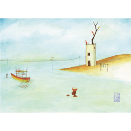 Kleine poster A4 |  Ocean Boy