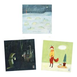Postkaart | Kerst Mix | 3 x 1 stuks
