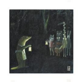 Postkaart | Christmas in the Woods | 5 stuks