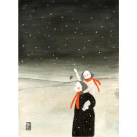 Postkaart A6 | Christmas-snowflakes | 5 stuks