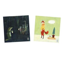 Postkaart   Kerst Mix   2 x 2