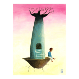 Kleine poster A4 | Baobab Boy