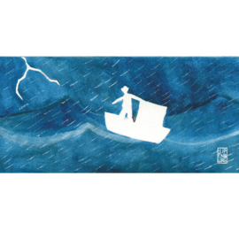 Postkaart lang | Journey Storm | 1 stuk