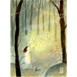 Postkaart A6 | Christmas-Fireflies | 5 stuks