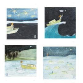 Postkaart | Kerst Mix 2 | 4 x 2 stuks