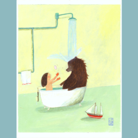 Originele Illustratie | Bathing Joy