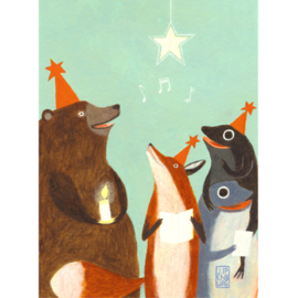 Postkaart A6   Christmas Song   5 stuks
