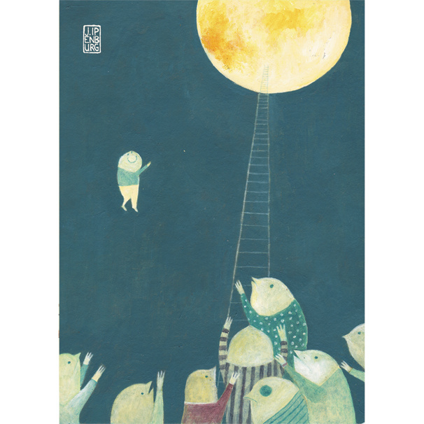 Postkaart A6 | To the Moon | 1 stuk