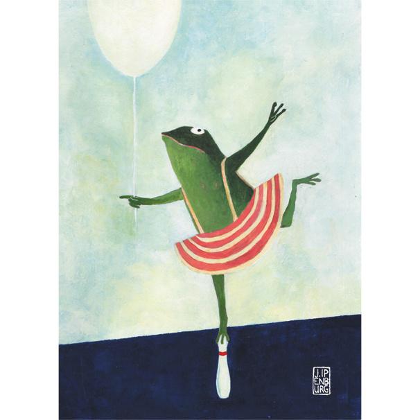 Postkaart A6 | Birthday Frog | 5 stuks