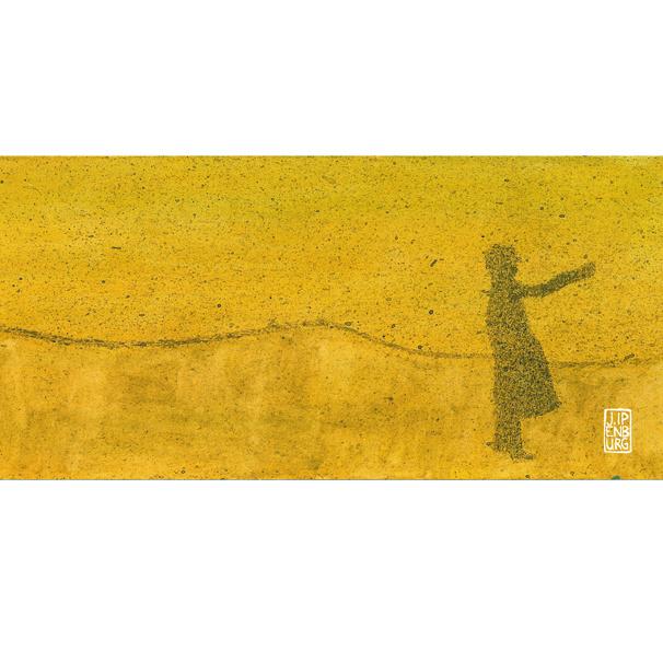 Postkaart-lang | Journey-Desert | 5 stuks