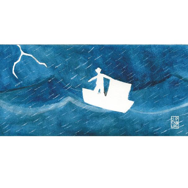Postkaart-lang | Journey- Storm | 5 stuks
