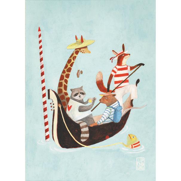 Postkaart A6 | Animal Holiday | 5 stuks