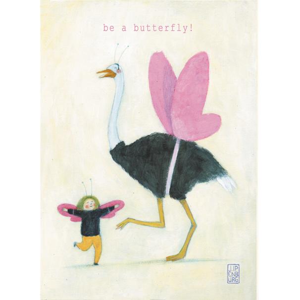 Postkaart A6 | Be a Butterfly! | 5 stuks