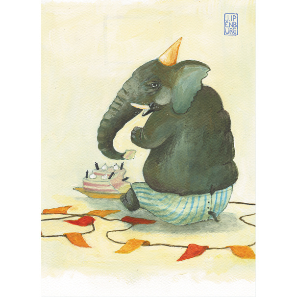 Postkaart A6 | Elephants Party | 1 stuk